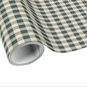 Country Cottage Plaid Green Wrapping Paper