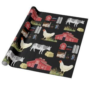 Country Farm Wrapping Paper
