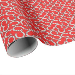 Country Horse shoe pattern wrapping paper