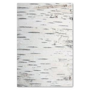 Country Rustic Birch Tree Bark Tissue Paper