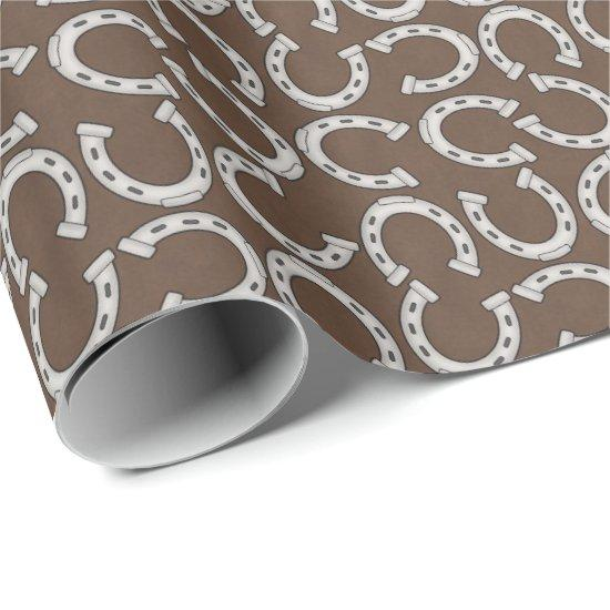 Country Western Horse shoe pattern wrapping paper