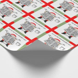 COVID-19 Quarantine Christmas Wrapping Paper