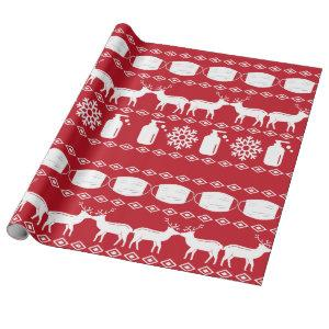 Covid 19 Ugly Christmas Sweater Wrapping Paper