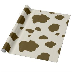 COW SKIN brown Wrapping Paper