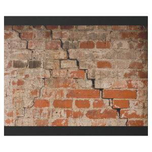 Cracked brick wall wrapping paper