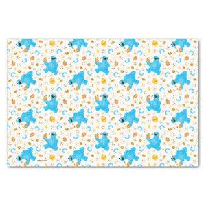 Crayon Cookie Monster Cookie Pattern Tissue Paper