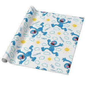 Crayon Grover Sunshine Pattern Wrapping Paper