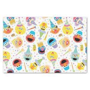 Crayon Sesame Pals Party Pattern Tissue Paper