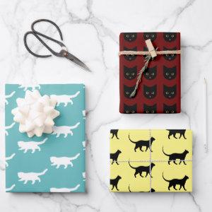 Crazy Cat Bundle Wrapping Paper Sheets