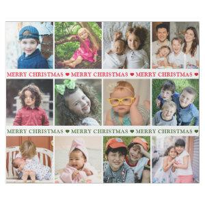 Create Your Own 12 Photo Collage Merry Christmas Wrapping Paper