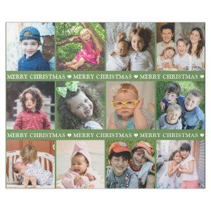 Create Your Own 12 Photo Collage  Red Christmas Wrapping Paper