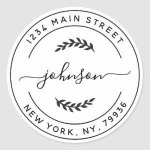 Create Your Own Round Return Address Classic Round Sticker