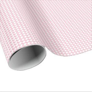 Create Your Own White Houndstooth Style Pattern Wrapping Paper