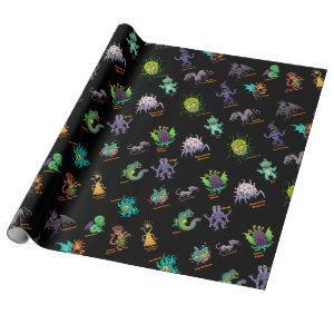 Cthulhu Lovecraft Mythos Chibi Bestiary II Wrapping Paper