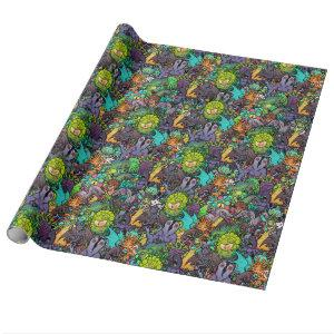 Cthulhu Lovecraft Mythos Chibi Bestiary Wrapping Paper