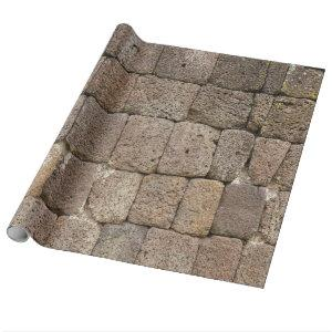 Cube Stone Wall Wrapping Paper