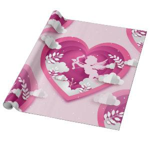 cupid valentine wrapping paper