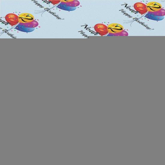 CUSTOM Birthday Wrapping Paper NAME YEAR Balloons