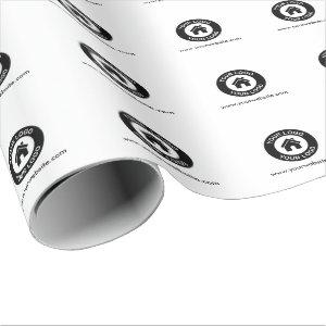 Custom Business Logo And Website Wrapping Paper