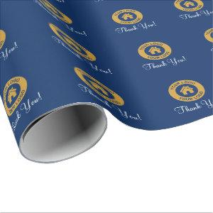 Custom Business Logo Thank You Wrapping Paper