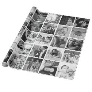 Custom Create-Your-Own 30 Photo Collage Gift Wrapping Paper