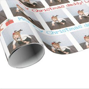 Custom gift wrapping paper with photo and text