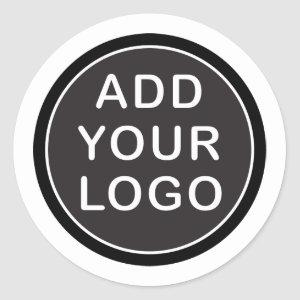 Custom logo business classic round sticker