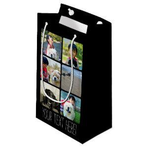 Custom Multi Photo Mosaic Picture Collage Small Gift Bag