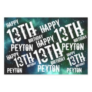 Custom Personalized Galaxy Birthday Party Wrapping Paper Sheets