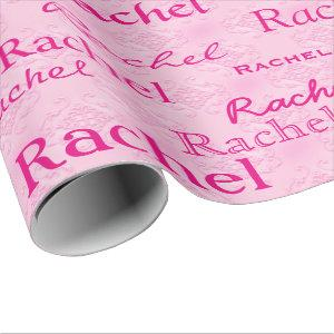 Custom Personalized Matte Pink Wrapping Paper