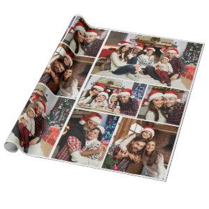 Custom Personalized Photo Collage Merry Christmas Wrapping Paper