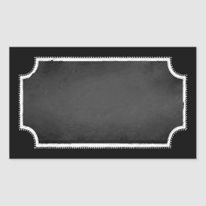 Customizable Blank Faux Chalkboard Sticker Labels