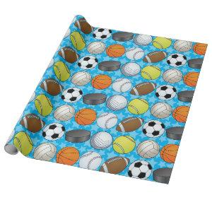 Customizable Sports Wrapping Paper