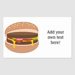 Customize this Hamburger graphic Rectangular Sticker