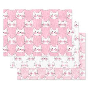 Cute as Can Be Japanese Kitty Cats Wrapping Paper Sheets