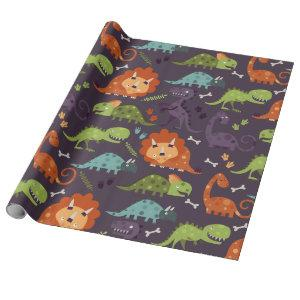Cute Baby Dinosaurs Dino Wrapping Paper