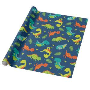 Cute Baby Dinosaurs Wrapping Paper