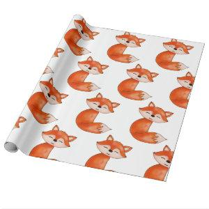Cute Baby Fox  | Woodland Animal Wrapping Paper