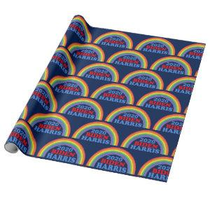 Cute Biden Harris 2020 Rainbow Wrapping Paper