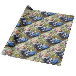 Cute Boy Photo It Your Way Glossy Wrapping Paper