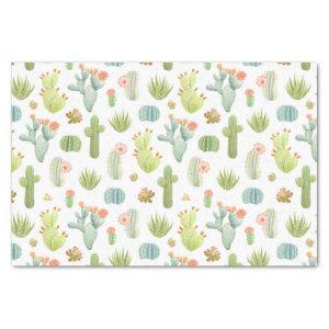 Cute Cactus Standing Pattern Tissue Paper