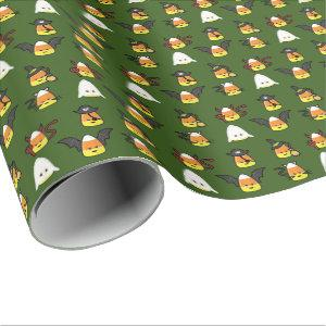 Cute Candy Corn Halloween Disguise Wrapping Paper