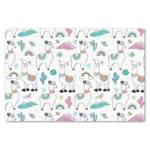 Cute Cartoon Llama Pattern Tissue Paper
