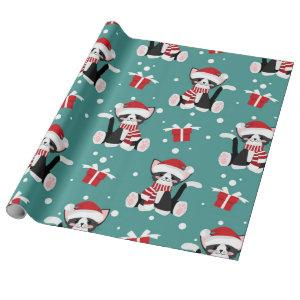 Cute Cat Christmas Pattern Wrapping Paper
