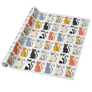 Cute Cat Mix Wrapping Paper