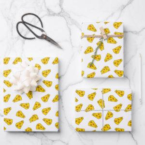 Cute Cheese Pattern Wrapping Paper Sheets