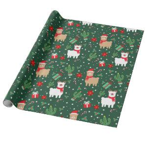 Cute Christmas Alpaca Wrapping Paper