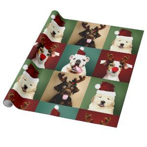 Cute Christmas Dogs Holiday Wrapping Paper