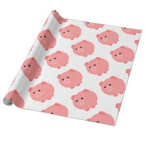 Cute Chubby Pig Wrapping Paper