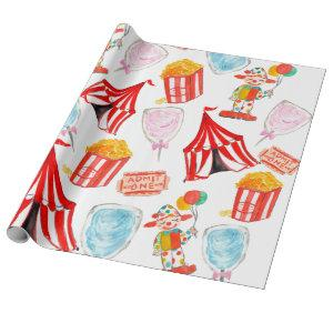 Cute Circus Carnival Kids Party Wrapping paper